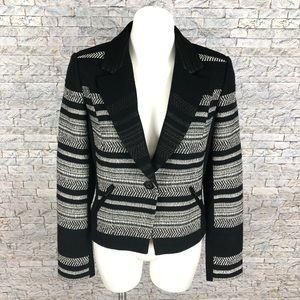 Classiques Entier Black White Tweed Blazer